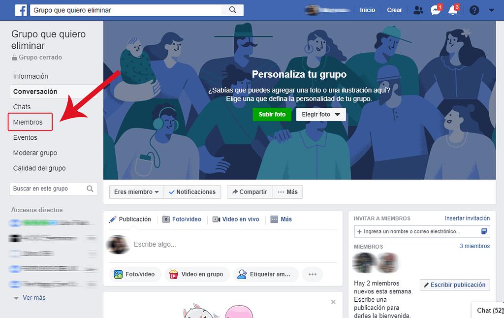 Paso 3. Cómo eliminar un grupo de Facebook siendo administrador