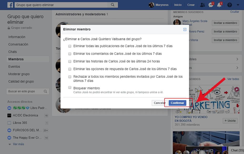Paso 4. Cómo borrar un grupo de Facebook siendo administrador