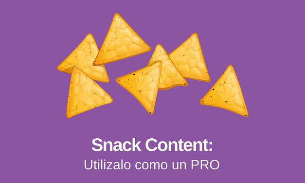 Snack Content: ¿Qué es y Cómo puedes Utilizarlo?