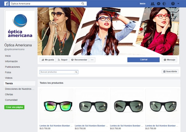 Óptica Americana Facebook Shop