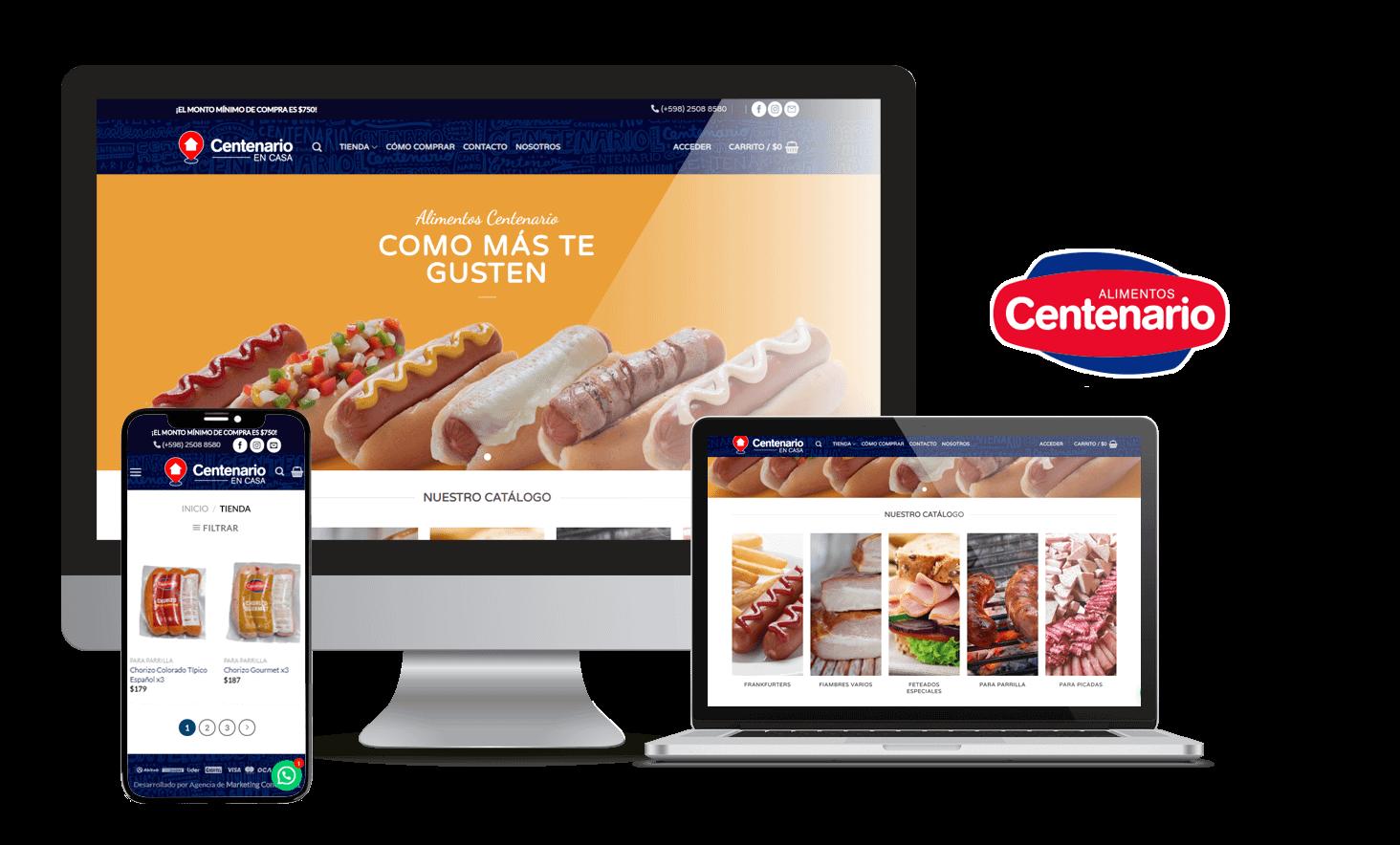 Desarrollo Tienda Online Centenario