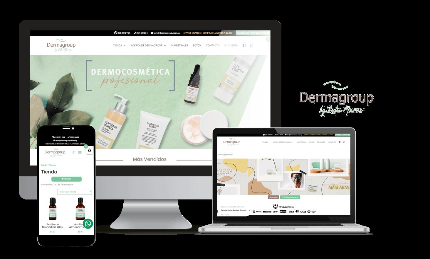 Desarrollo Tienda Online Dermagroup