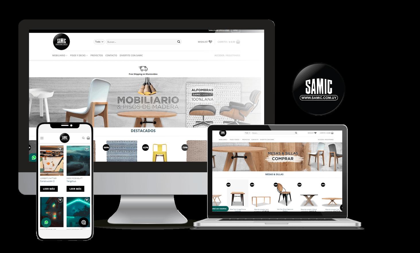 Desarrollo Tienda Online Samic